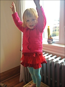 I am two! I choose my own outfits! Red and pink forever!